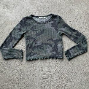 Caution to the Wind Camo Crop Top